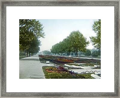 Framed Print featuring the photograph Sunken Gardens Fairmount Park Philadelphia 1907 by A Gurmankin
