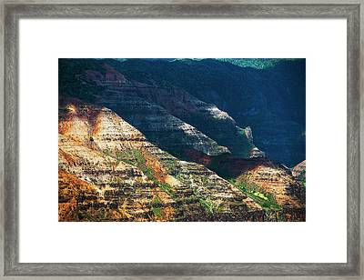 Sunlight Brightens The Slopes Framed Print by Robert L. Potts