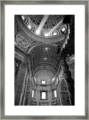 Sunlight In St. Peter's Framed Print by Susan Schmitz
