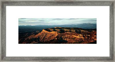 Sunlight On Rock Formations, Park Point Framed Print by Panoramic Images