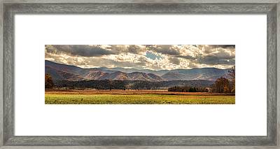 Sunlight Rains Down Framed Print by Heather Applegate
