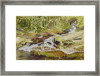 Sunlight Rocks And Water  II  Framed Print by Joel Deutsch