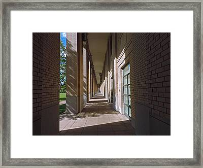 Sunlit Arches Of Carnegie Mellon University Framed Print by Cityscape Photography