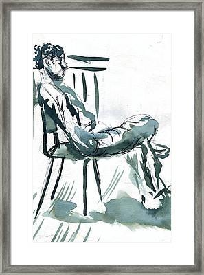 Sunny Chair  Framed Print by Seb Mcnulty