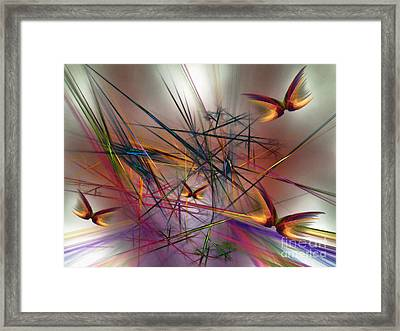 Sunny Day-abstract Art Framed Print by Karin Kuhlmann