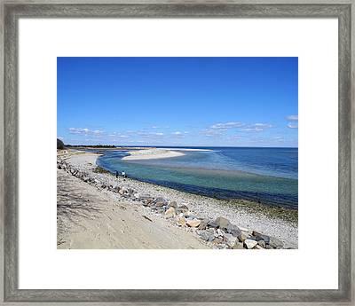 Sunny Day Beachside Framed Print by Lynda Lehmann