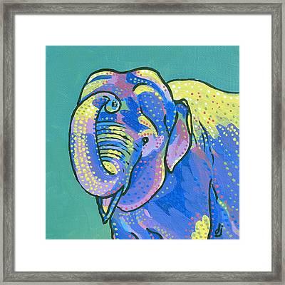 Sunny Elephant Framed Print by Dorothy Jenson