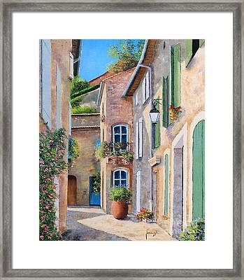 Sunny Lane Framed Print by Jean-Marc Janiaczyk