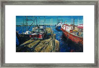 Sunny Pier Framed Print by Alexei Biryukoff