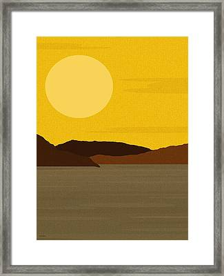 Sunny River Framed Print by Val Arie