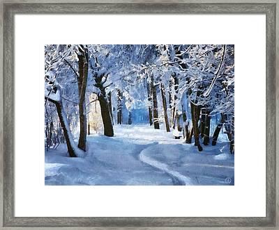 Sunny Snowy Day Framed Print by Gun Legler