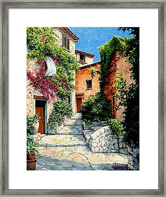 Sunny Walkway Framed Print by Michael Swanson
