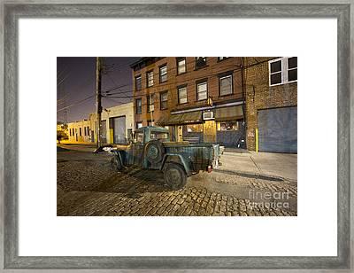Sunny's Bar Framed Print by Leslie Leda