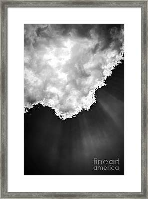 Sunrays In Black And White Framed Print by Elena Elisseeva