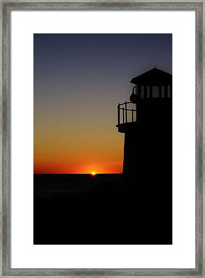Sunrise Abstract Framed Print by Joy Bradley