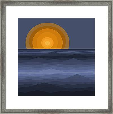 Sunrise Abstract Framed Print by Val Arie