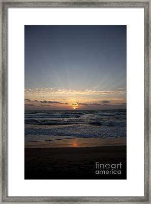 Sunrise Framed Print by Amanda Barcon