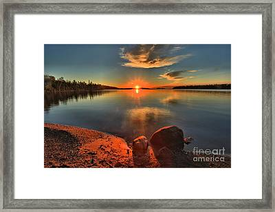 Sunrise Anchor Framed Print by Adam Jewell
