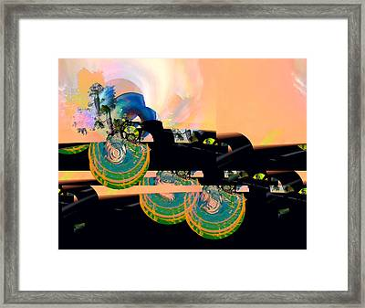 Sunrise And A Mystery Framed Print by Wendy J St Christopher
