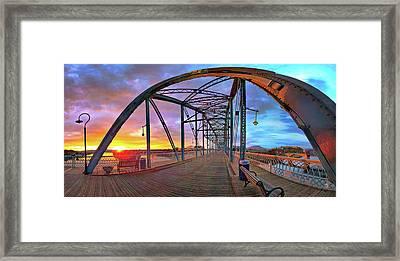 Sunrise As I Walk Framed Print by Steven Llorca