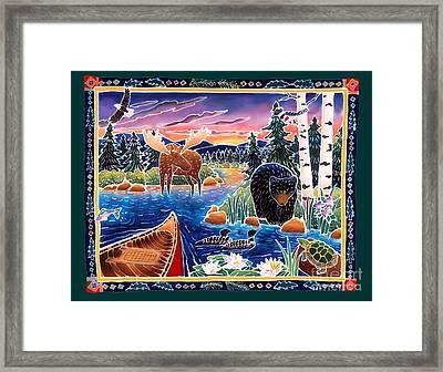Sunrise At Bear Lake Framed Print by Harriet Peck Taylor