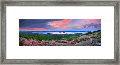 Sunrise At  Cadillac Pano  Framed Print by Emmanuel Panagiotakis