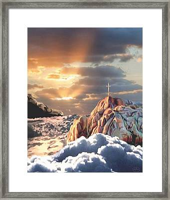 Sunrise At Calvary Framed Print by Ron Chambers