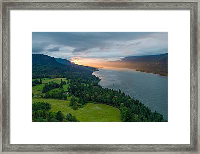 Sunrise At Cape Horn Framed Print by Patricia Davidson