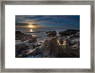Sunrise At Coral Cove Park In Jupiter Framed Print by Andres Leon