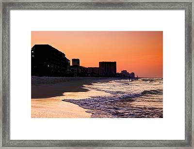 Sunrise At Destin Framed Print by Joel P Black
