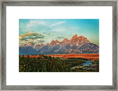 Sunrise At Grand Tetons Framed Print by Robert Bales
