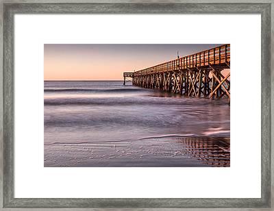Sunrise At Isle Of Palms Framed Print by Walt  Baker