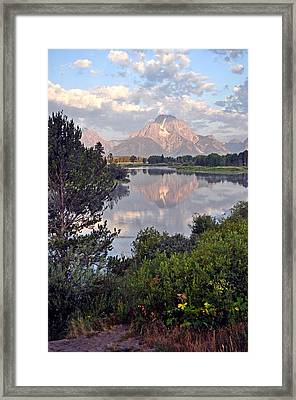 Sunrise At Oxbow Bend 3 Framed Print by Marty Koch
