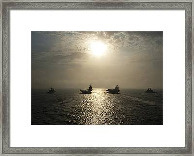 Sunrise At Sea Framed Print by Mountain Dreams