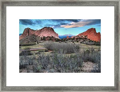 Sunrise At The Gods Framed Print by Adam Jewell