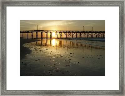 Sunrise At The Jolly Roger Pier Framed Print by Mike McGlothlen