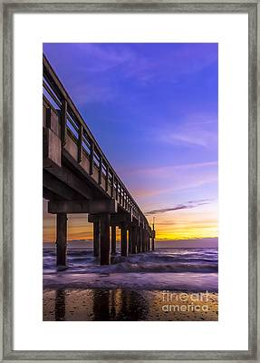 Sunrise At The Pier Framed Print by Marvin Spates