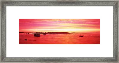 Sunrise Chatham Harbor Cape Cod Ma Usa Framed Print by Panoramic Images