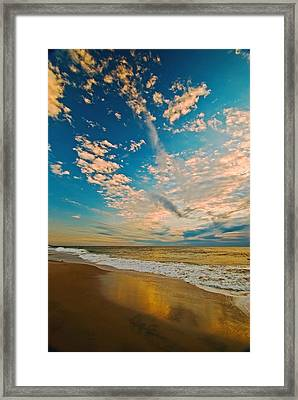 Sunrise Coming At The Shore. Framed Print by Bill Jonscher
