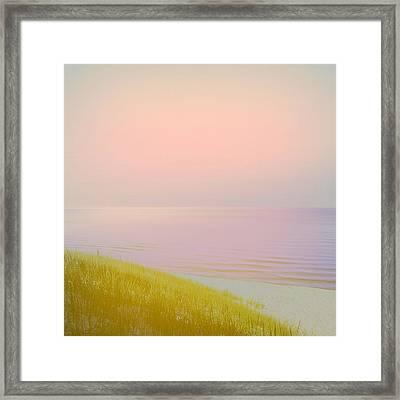 Sunrise Dune Framed Print by Michelle Calkins