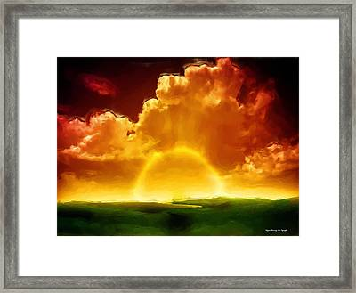 Sunrise Explosion Framed Print by Wayne Bonney