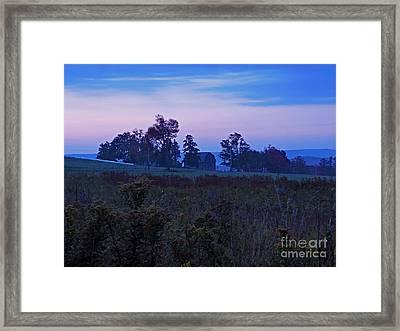 Sunrise Farm Framed Print by Helene Guertin