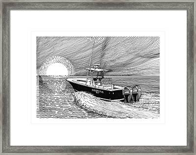 Sunrise Fishing Framed Print by Jack Pumphrey