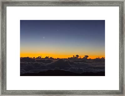 Sunrise Haleakala Volcano Framed Print by Norman Blume