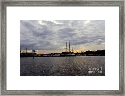 Sunrise In Amsterdam Framed Print by Pravine Chester