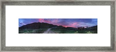 Sunrise In Colorado Framed Print by Ric Soulen