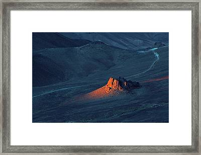 Sunrise In Saharan Mountains Framed Print by Martin Rietze