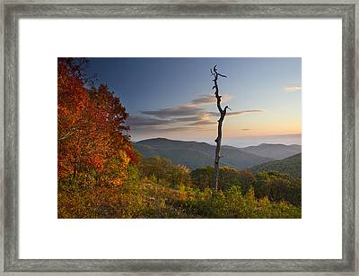 Sunrise In Shenandoah National Park Framed Print by Pierre Leclerc Photography