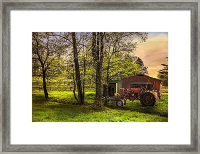 Sunrise In The Smoky Mountains Framed Print by Debra and Dave Vanderlaan