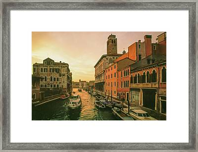 Sunrise In Venice Framed Print by Cliff Wassmann